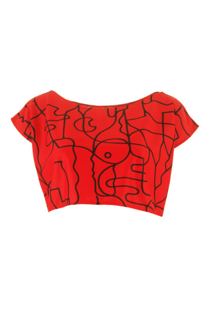 CROP TOP ROUGE
